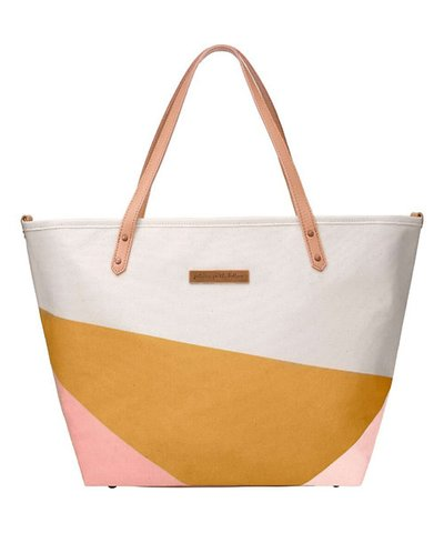 Petunia Downtown Tote Changing Bag - Birch/Macaroon