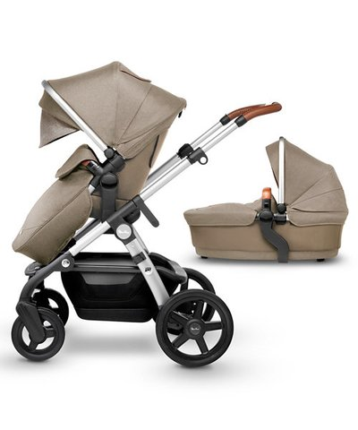 Silver Cross Seat Unit & Carrycot - Linen
