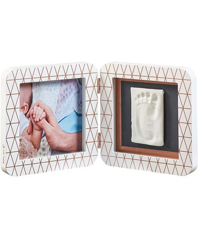 My Baby Touch Rounded Single Print Frame - Copper