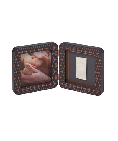 My Baby Touch Rounded Single Print Frame Copper Grey