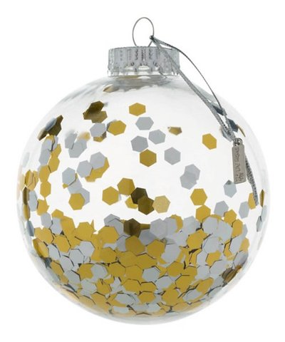 baby art Christmas bauble transparent