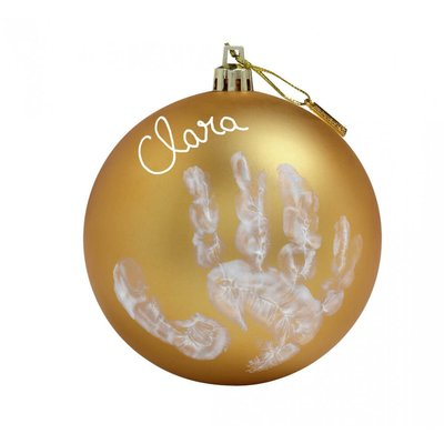 Baby Art Gold Bauble