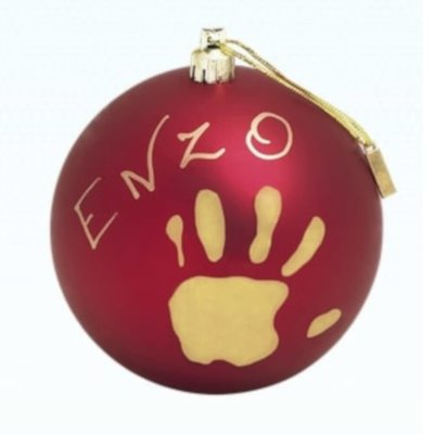 Baby Art Red Bauble