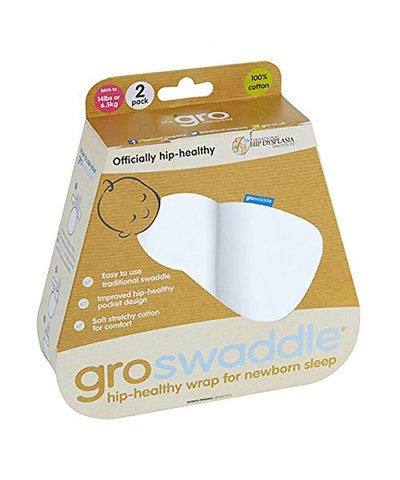 Gro Twin Pack Swaddles - White