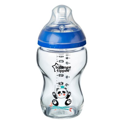 Tommee Tippee 250ml Closer to Nature Glass Bottle - Blue