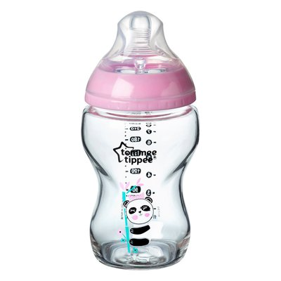 Tommee Tippee 250ml Closer to Nature Glass Bottle - Pink