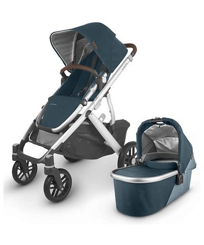 Uppababy Vista V2 Pushchair - Finn Deep Sea