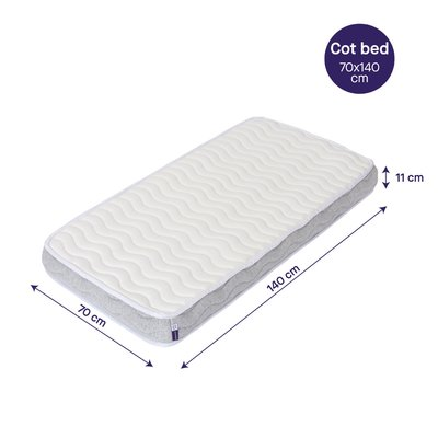 Clevamama ClevaFoam Cot Bed Pocket Sprung Mattress 140 x 70cm