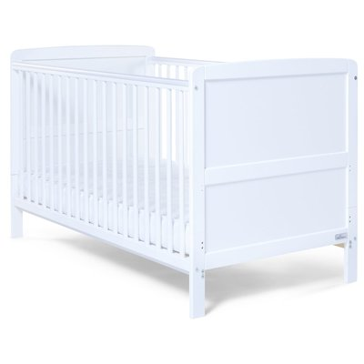 Baby Elegance Travis Cot Bed – White - Default