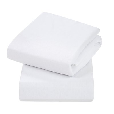 Clevamama Crib 2 Pack Fitted Sheets - White