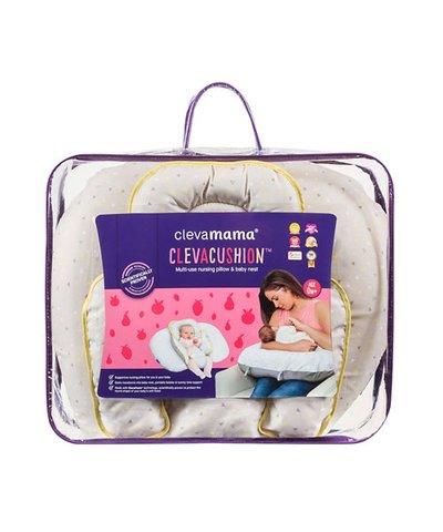 ClevaMama ClevaCushion Nursing Pillow & Baby Nest - Grey