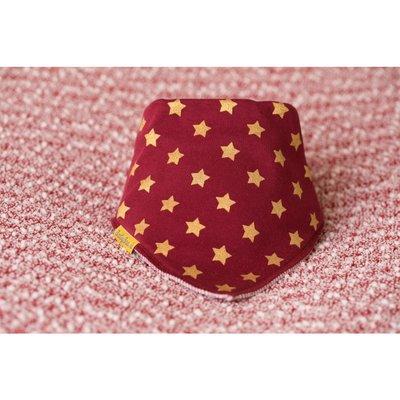 BabyBoo Mulberry with Gold Stars Organic Cotton Bandana Bib