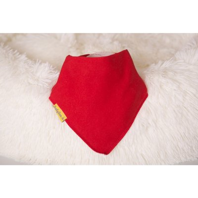 BabyBoo DribbleBoo Just Red Organic Cotton Bandana Bib