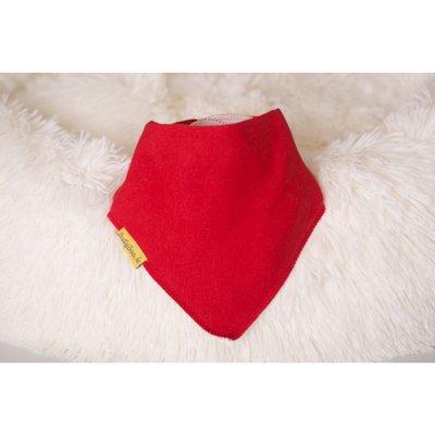 BabyBoo DribbleBoo Just Red Organic Cotton Bandana Bib - Default