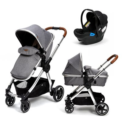 Babylo Panorama XT Travel System - Grey Herringbone - Default