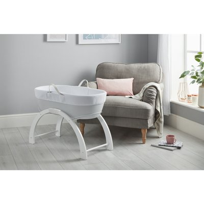 Shnuggle Dreami Moses Basket & Stand - Pebble Grey