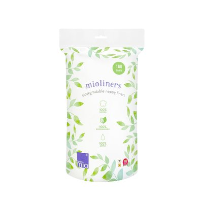 Bambino Mio Biodegradable Nappy Liners 160 Pack