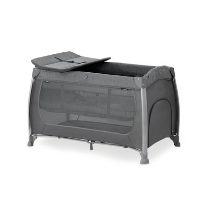 Hauck Play N Relax Travel Cot - Melange Charcoal