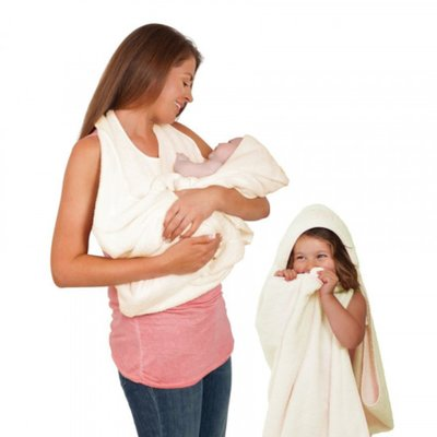 Clevamama - Splash & Wrap Baby Bath Towel - Cream - Default