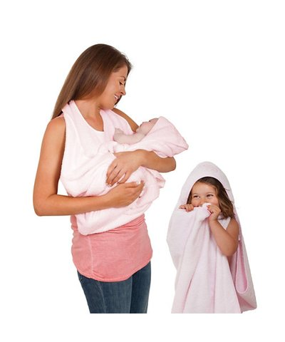 Clevamama - Splash & Wrap Baby Bath Towel - Pink