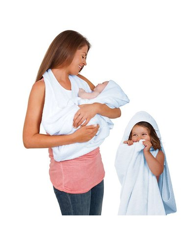 Clevamama - Splash & Wrap Baby Bath Towel - Blue