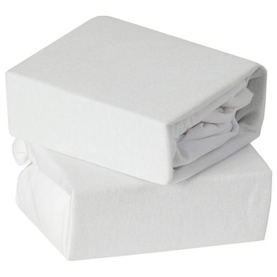 Baby Elegance Crib Jersey Sheets 2 Pack - White