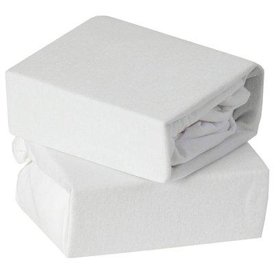 Baby Elegance Crib Jersey Sheets 2 Pack - White