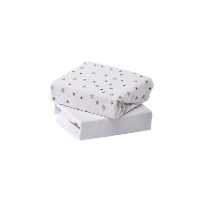 Baby Elegance Cot Sheets 2 Pack - Grey Star - Default