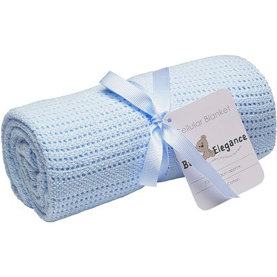 Baby Elegance Rolled Cell Blanket - Blue