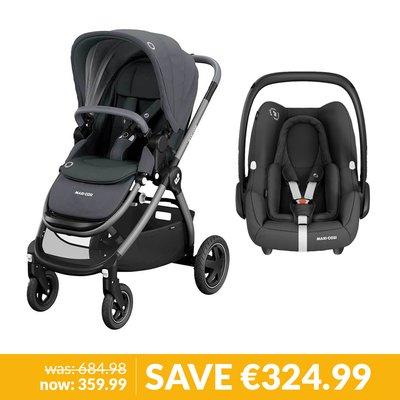 Maxi-Cosi Adorra Pushchair & Rock Car Seat Bundle - Essential Graphite