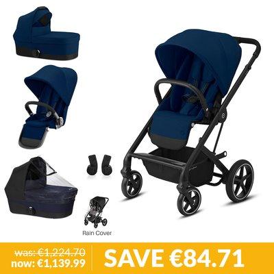 Cybex Gazelle S Newborn & Toddler Pushchair Bundle - Navy Blue