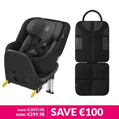 Maxi-Cosi Mica Car Seat & Backseat Protector Bundle - Authentic Black