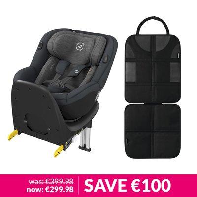 Maxi-Cosi Mica Car Seat & Backseat Protector Bundle - Authentic Graphite