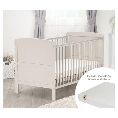 Cuddleco Juliet Cot Bed & Harmony Mattress - Dove Grey