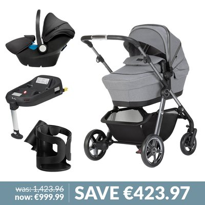 **SAVE** Silver Cross Pacific Pushchair, Simplicity Car Seat & Adapters Bundle - Free Car Seat & Adapters
