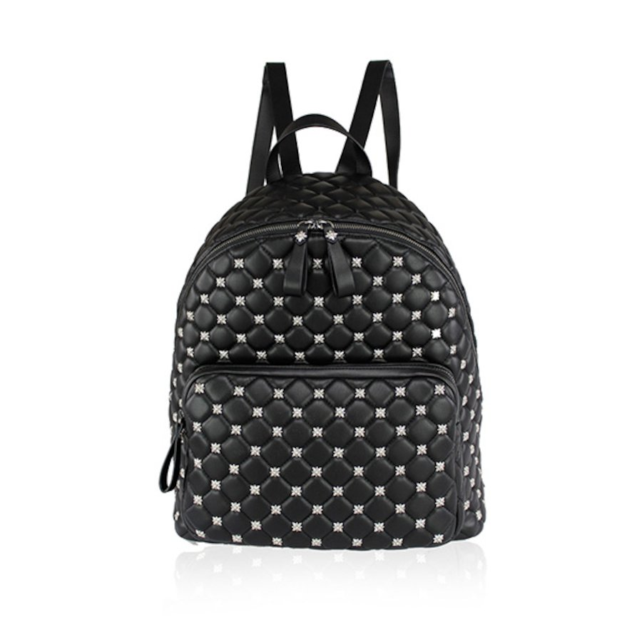Quilted pu Backpack 006