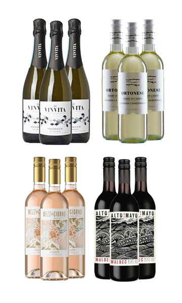 Smart Wine Selection (Case of 12 - Mixed Wines)