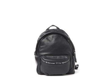 Amal<br>Petit sac à dos noir avec logo en relief
