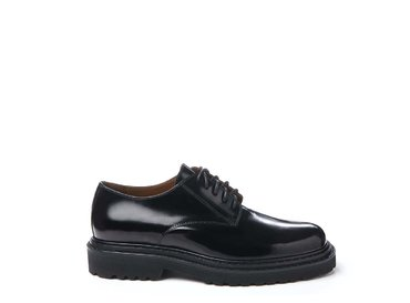 Brushed leather Derby shoe