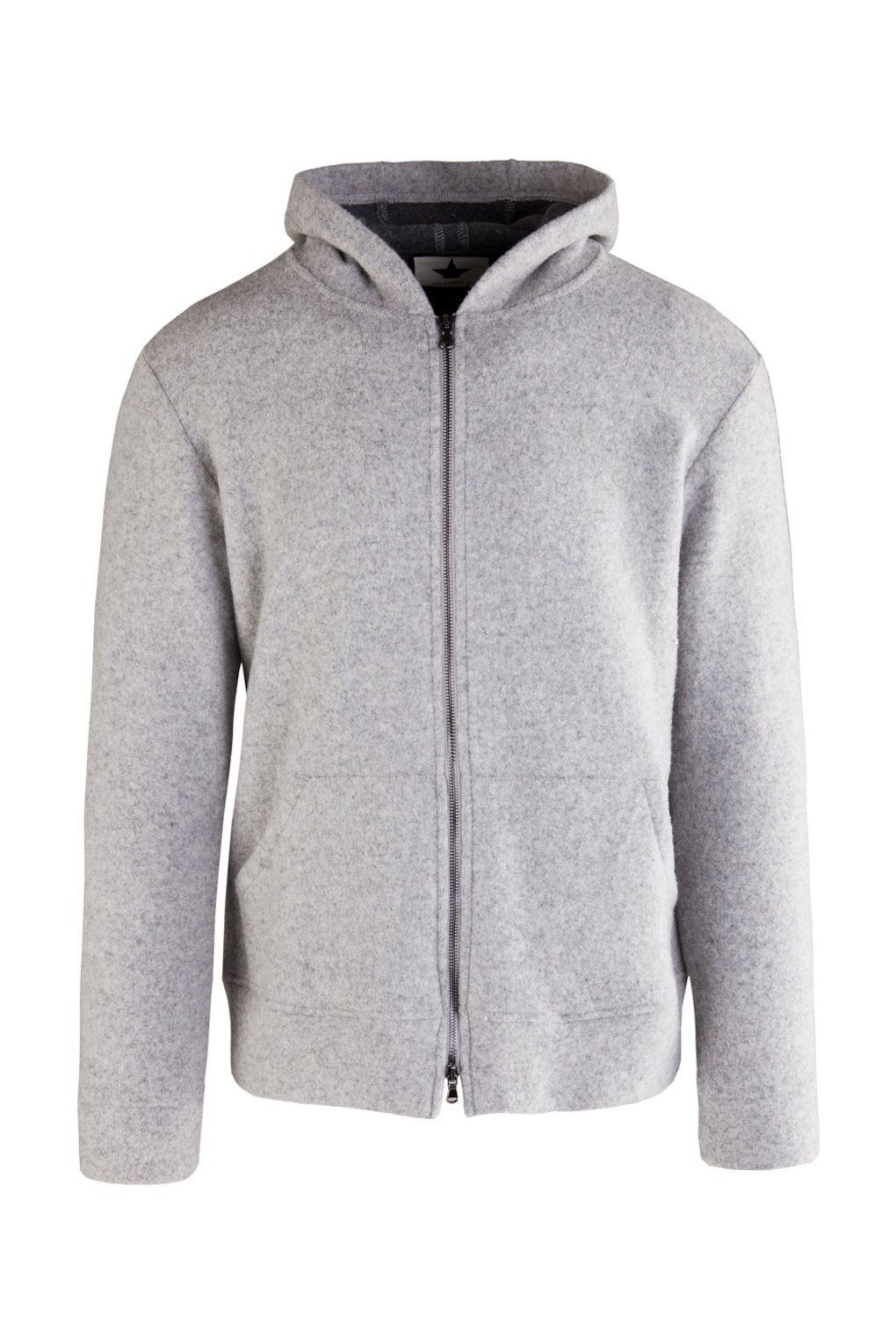 Sweatshirt with Hood in Wool Blend
