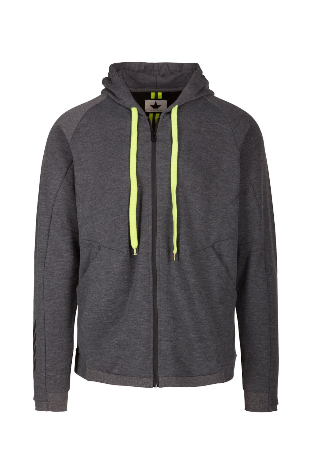 Technical Sweatshirt with Fluo Details