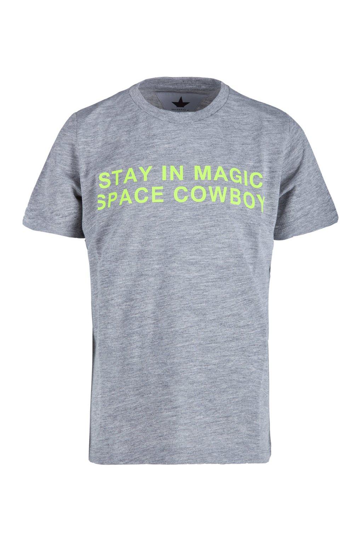 T-shirt bambino con stampa fluo