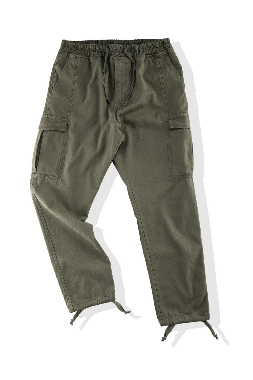 Pantalone Cargo in Gabardina