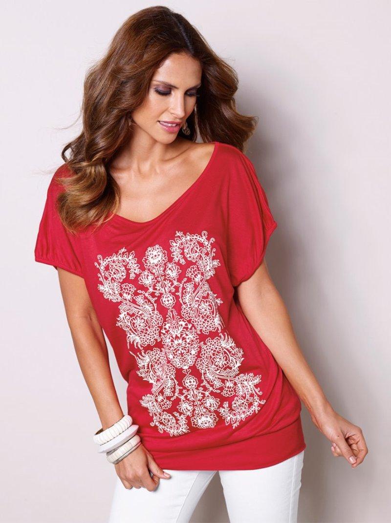 Camiseta mujer estampado engomado