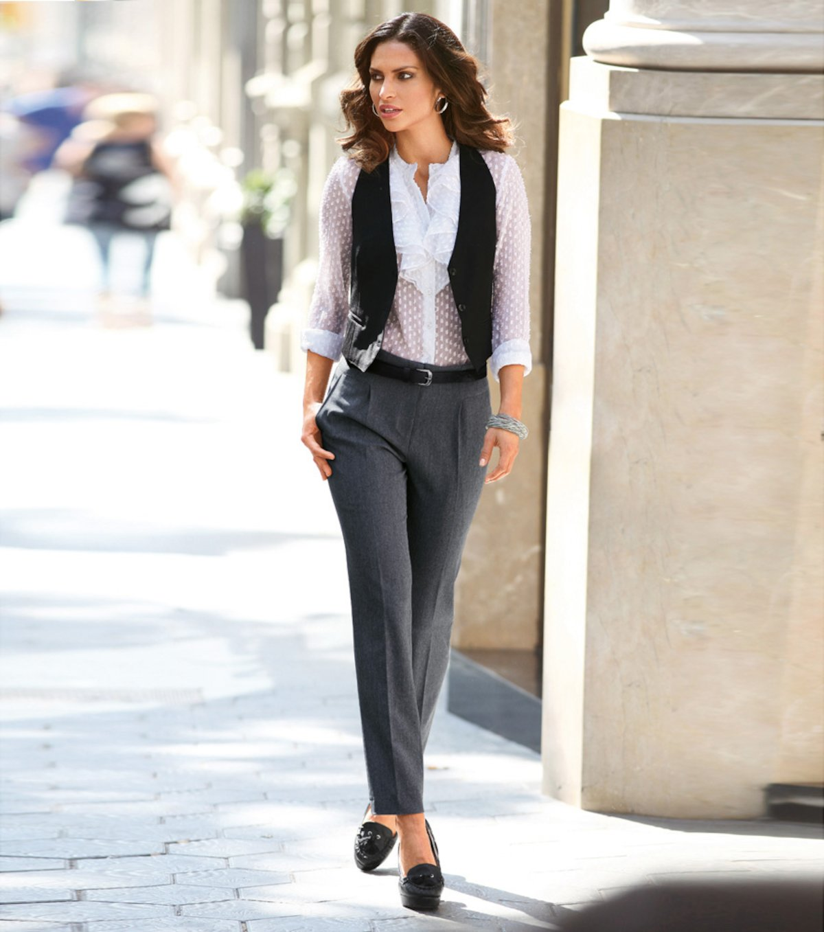 Pantalon Vestir Mujer Tienda Online De Zapatos Ropa Y Complementos De Marca