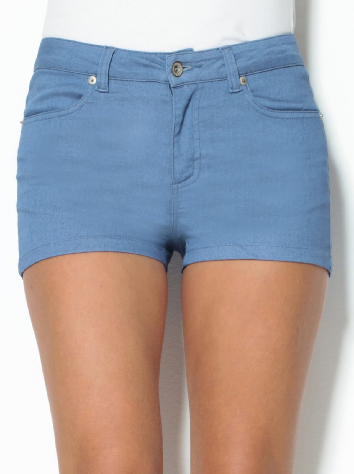 Pantalon Corto Short Mujer De Tiro Medio Con Bolsillos