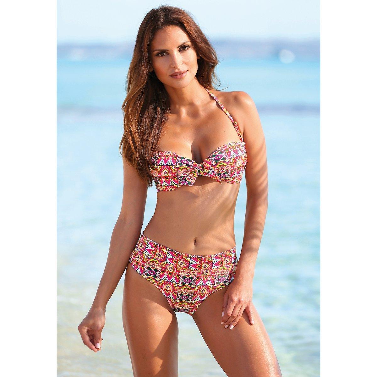 03e9407431df Bikini bandeau étnico mujer de sujetador y braga alta