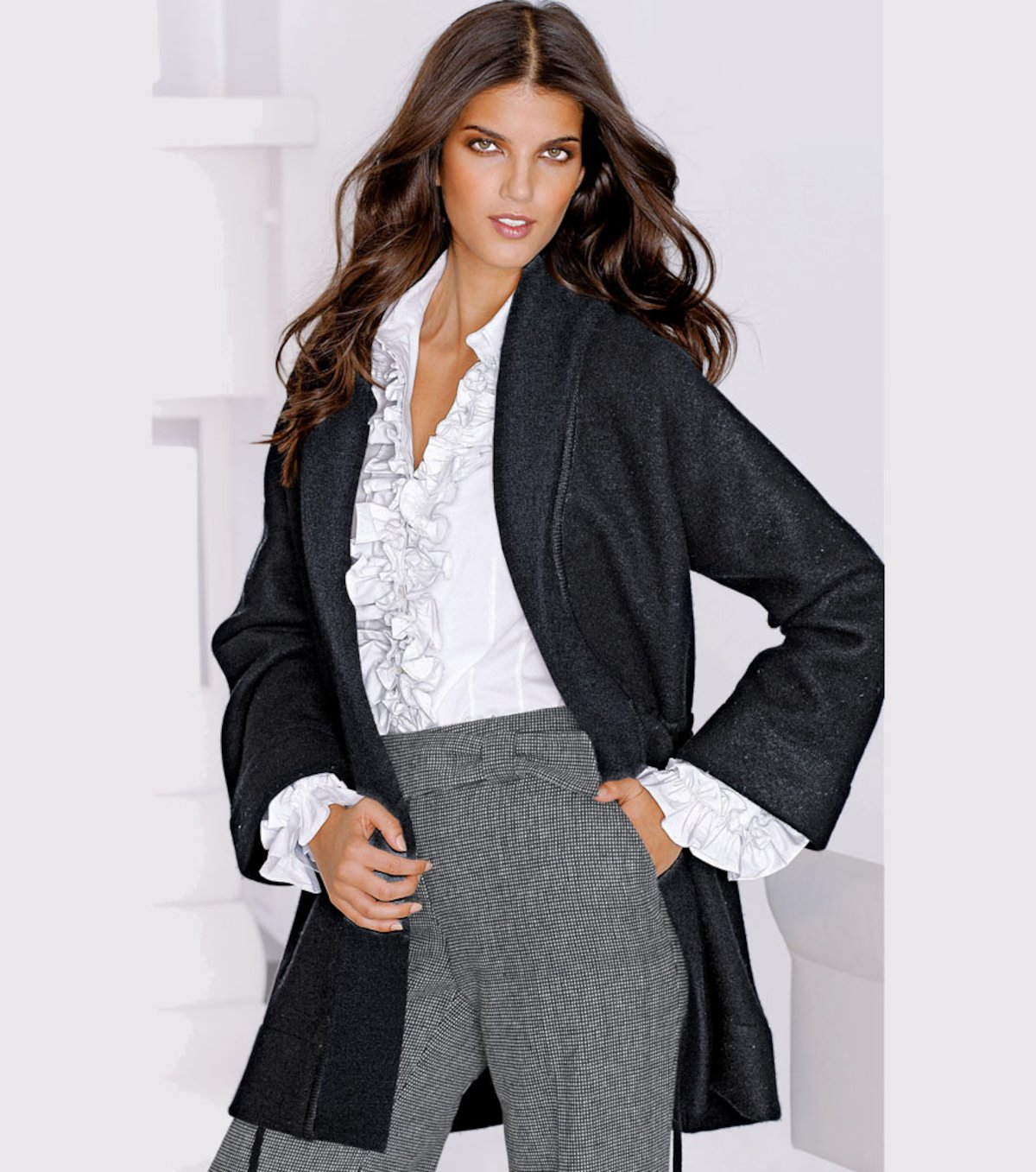 nueva llegada 3c151 71c0f Chaqueta abrigo mujer de punto tricot