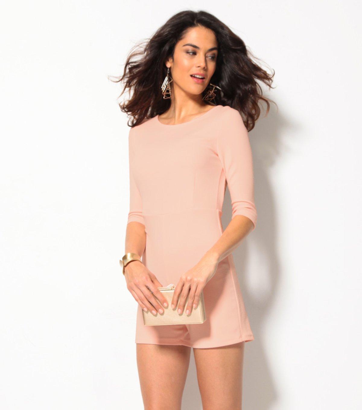1a758eb276da Mono corto mujer con espalda escotada rosa