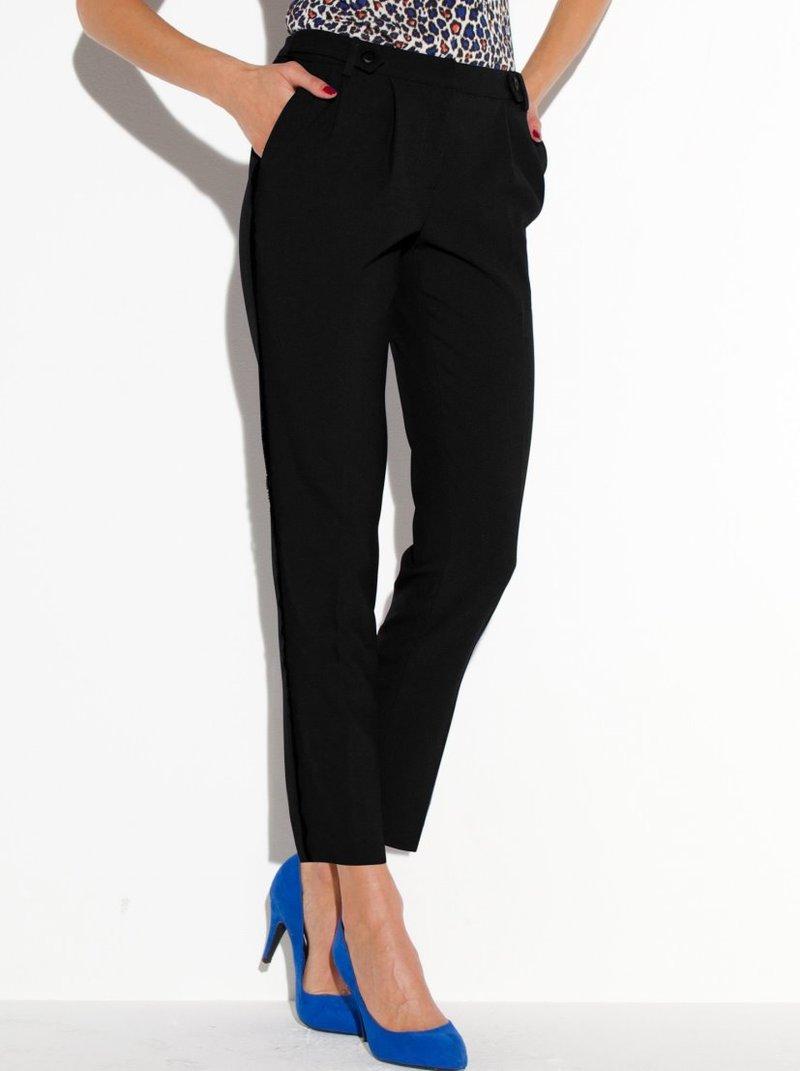 Pantalón estilo smoking mujer - Negro